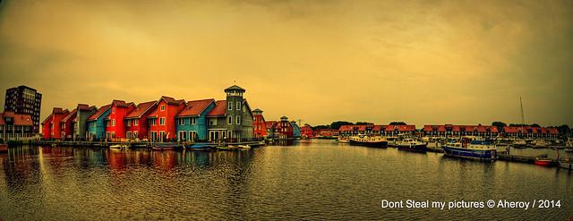 Reitdiephaven,Groningen stad,the Netherlands,Europe