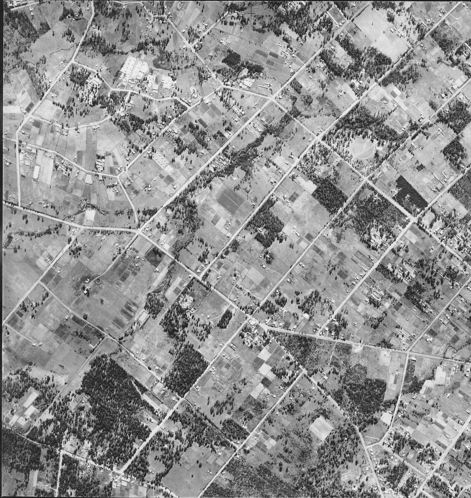 Bonnyrigg, Greenfield Park & Mt Pritchard 1951 - Sydney aerial photo