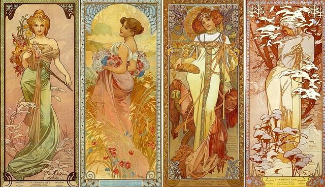 Les Quatre Saisons by Alfons Mucha (1902)