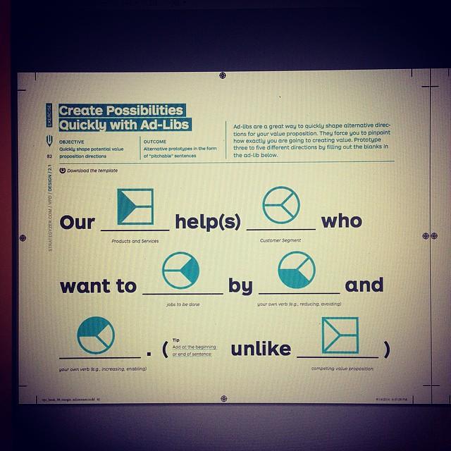 Create alternative value proposition prototypes quickly wi
