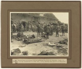 A 3rd Australian Divisional Field Dressing Station, Kandahar Farm, Belgium, during the Battle of Messines