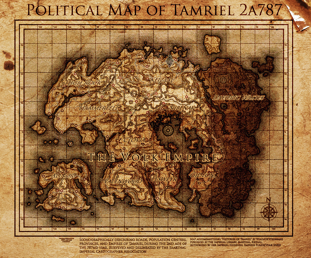Elder Scrolls: The Volk Empire Map of Tamriel | This is a ma… | Flickr