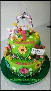 Surprising Birthday Cake Garden Design Cake Fondant Cake Icing Flickr Funny Birthday Cards Online Bapapcheapnameinfo