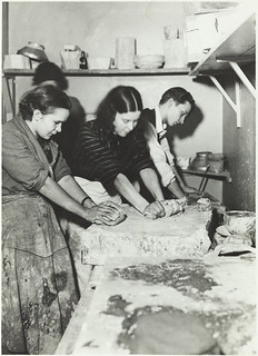 Pottery making, kneading the clay | by Aalto University Library and Archive Commons