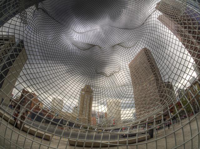 Calgary's Bow Building sculpture