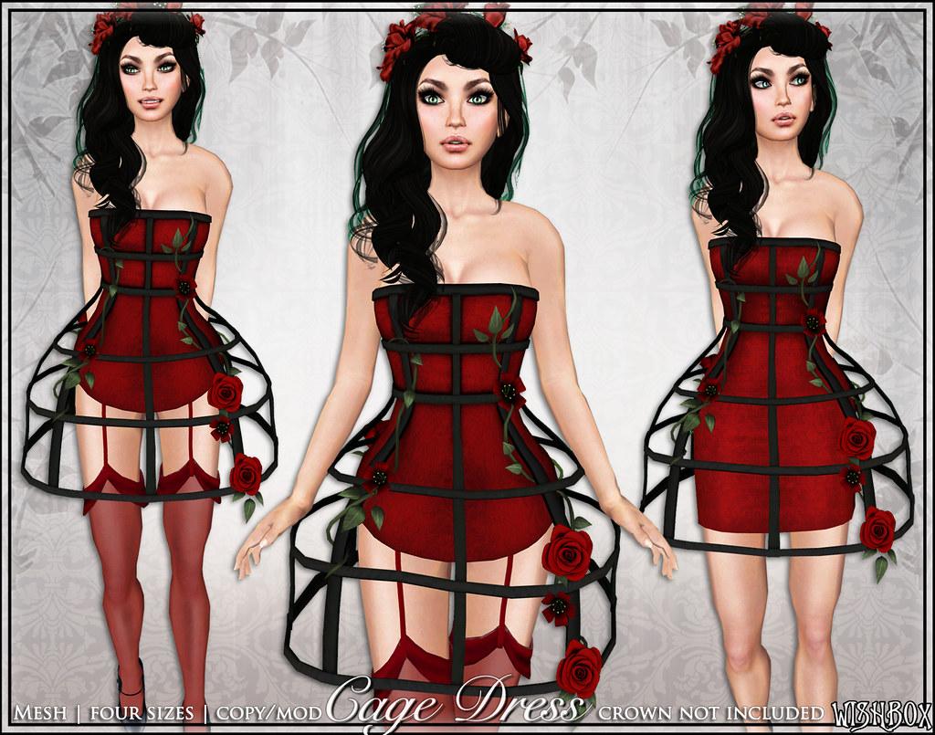 [Wishbox] Cage Dress (Red)