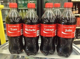 Share a Coke Name Promotional Coca Cola Bottles. Pics by Mike Mozart of TheToyChannel and JeepersMedia on YouTube. #ShareACoke #CocaCola #CocaColaNames #CocaColaPromotion | by JeepersMedia