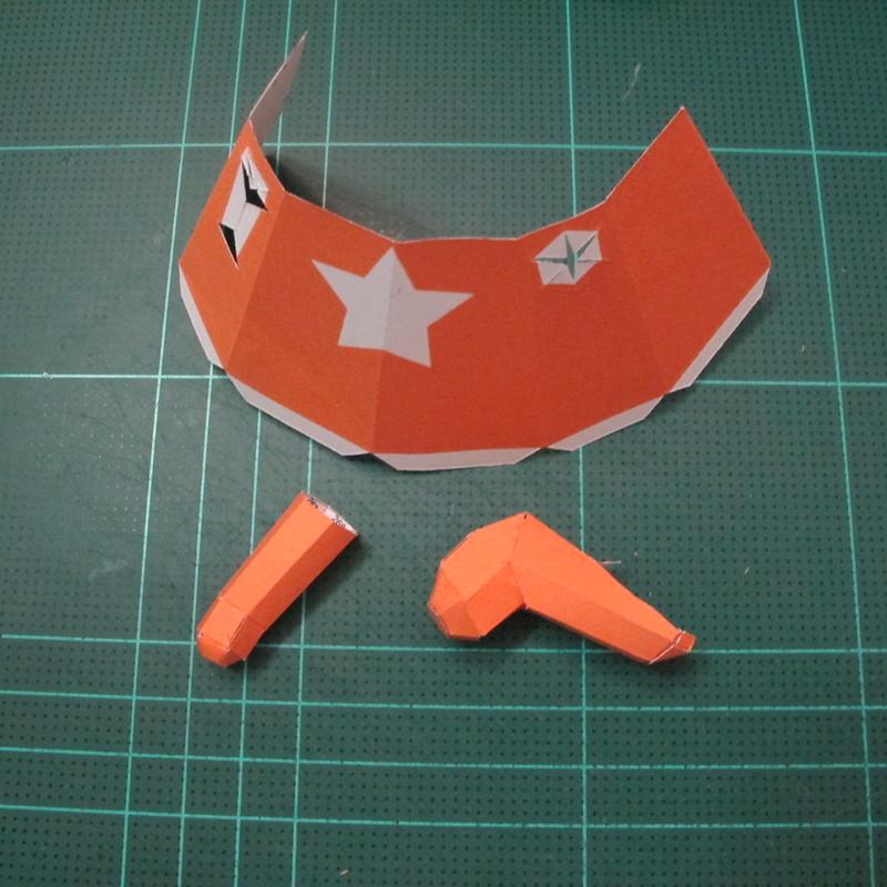วิธีทำโมเดลกระดาษคุกกี้รัน คุกกี้รสเมฆ (Cookie Run Cloud Cookie  Papercraft Model) 005