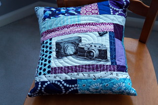 Pillow for a photographer | by quiltyhabit