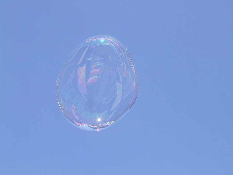 Brief Existence Bubble in a Blue Sky Lausanne Switzerland