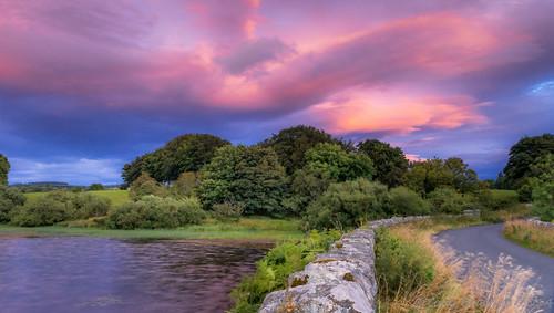longexposure ireland sunset landscape reservoir thelakes cowicklow roundwood 12814 vartry