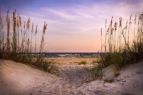 sunset summer beach canon georgia tybeeisland goldenhour exploregeorgia
