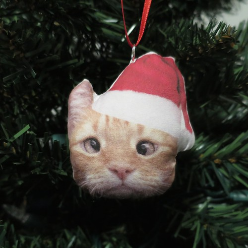 Iron Craft '14 Challenge #18 - Stuffed Cat Christmas Ornament | by katbaro