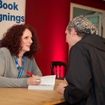 Maggie O'Farrell signs copies of her book |