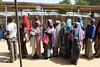 Women queue at ALIMA's clinic, which saw over 6000 consultations in the first three months since it opened in August 2016. Of those, 1000 were of severely malnourished children, who were subsequently treated.   The malnutrition rates are extremely critical in the northeast regions of Nigeria where humanitarian organisations have access to the population. But in areas which are still under Boko Haram control and completely inaccessible, up to 800 000 people are cut off from humanitarian assistance, with reported pockets of populations facing famine.   ©EU/ECHO/ Isabel Coello