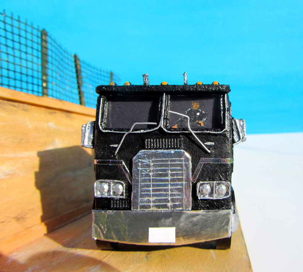 A Scratch Built Model Truck And Diorama Base Made From Rec