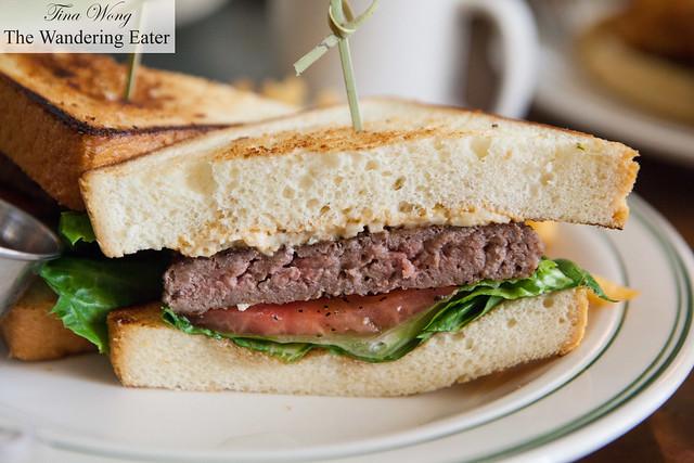 Pimento cheeseburger, close up