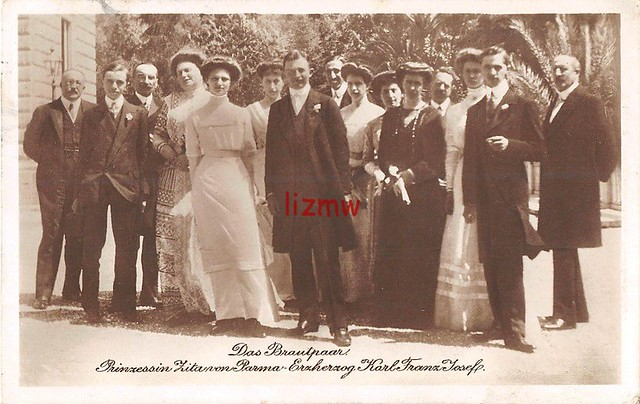 Das Brautpaar Prinzessin Zita von Bourbon.Parma und Erzherzog Karl von Österreich