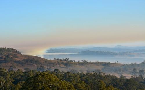 winter sky fog sunrise landscape fire countryside smog smoke earlymorning australia bluesky hills drought nsw inversion smoky bentley burnoff northernrivers smokysky morninglandscape backcreekvalley