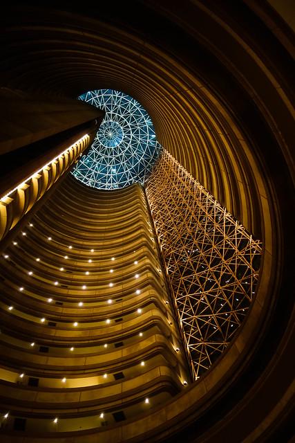 Looking up at the Grand Hyatt