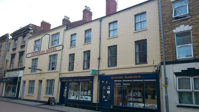 Commercial Road, Gloucester - Criterion Hotel, Geoff C Cook Picture Framing & Quayside Bookshop