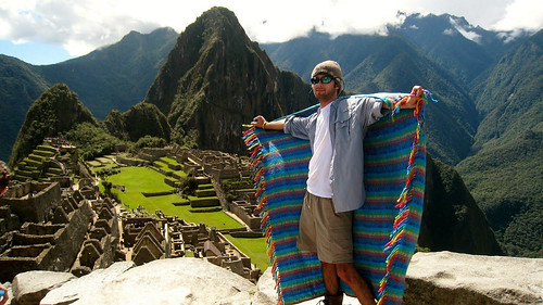 Student poses in Machu Picchu