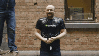 Collis does the ice bucket challenge | by envato