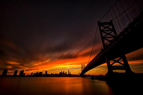 sunset philadelphia night evening newjersey nikon centercity camden nj explore pa philly benfranklinbridge 215 flickrexplore sigma1020 camdenwaterfront explored nd30 tenstop d70000