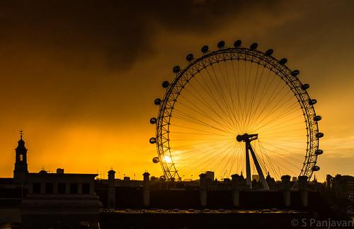 sunset england sun london rain clouds amber unitedkingdom