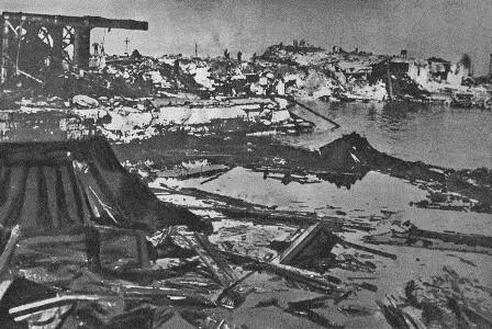 Ataque aéreo sobre el puerto de Bari