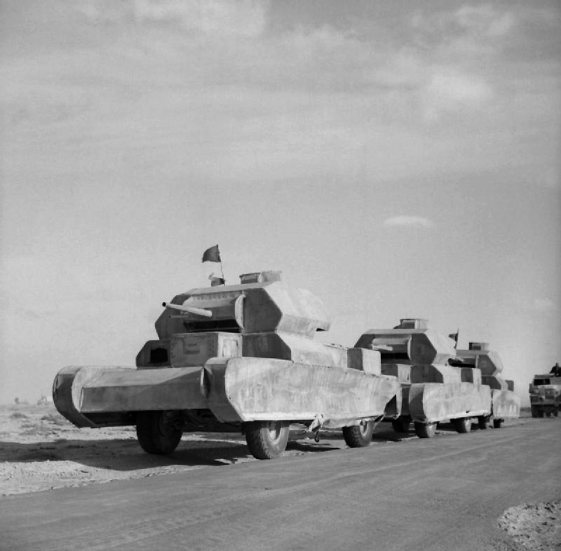 British trucks disguised as Cruiser tanks
