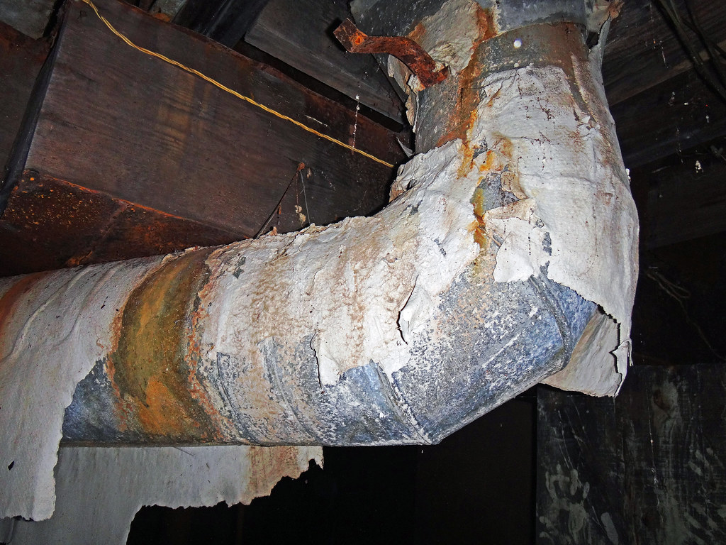 Another Example Of Damaged Asbestos Duct Tsi In Residentia