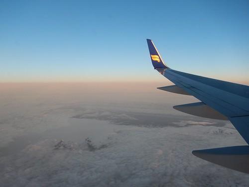 IJsland - rond 23 uur vanuit vliegtuig