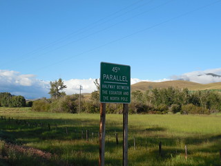 The 45th Parallel Sign | by jimmywayne