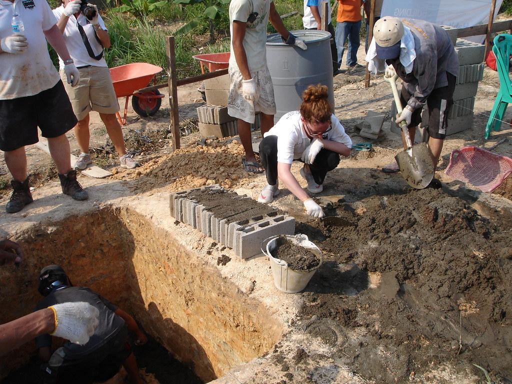 Cementing bricks