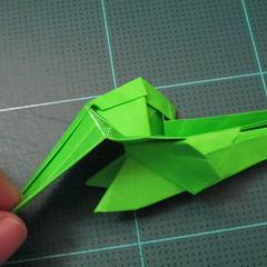 วิธีพับกระดาษเป็นรูปหอยทาก (origami Snail) 021