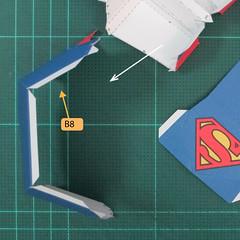 วิธีทำของเล่นโมเดลกระดาษซุปเปอร์แมน (Chibi Superman  Papercraft Model) 027