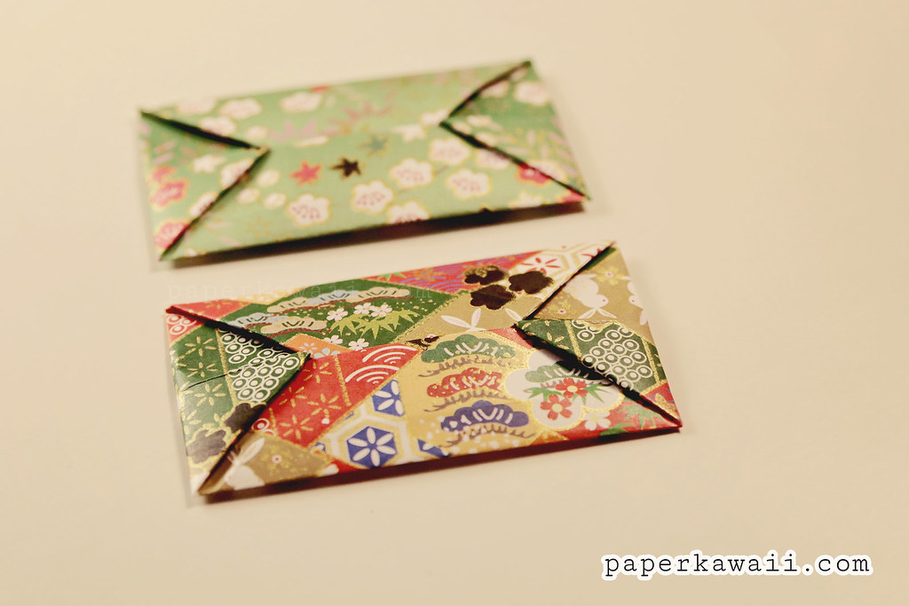 Simple Origami Envelope Video Tutorial - Paper Kawaii | 683x1024