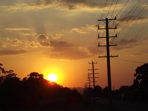 sunset australia victoria moe waterlooroad