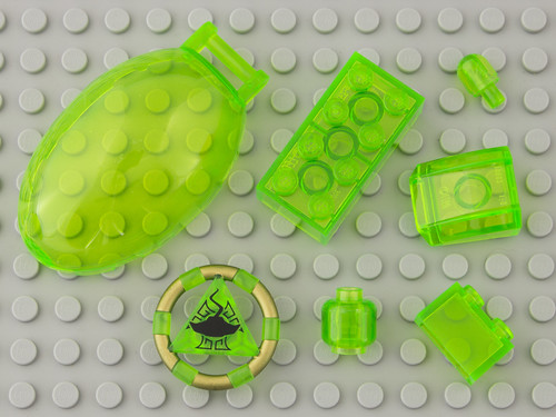 311 Transparent Bright Green / Trans-Bright Green | by Brick Colorstream
