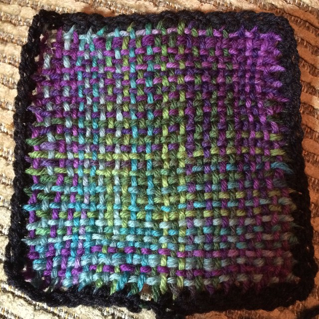 Square with single crochet border.