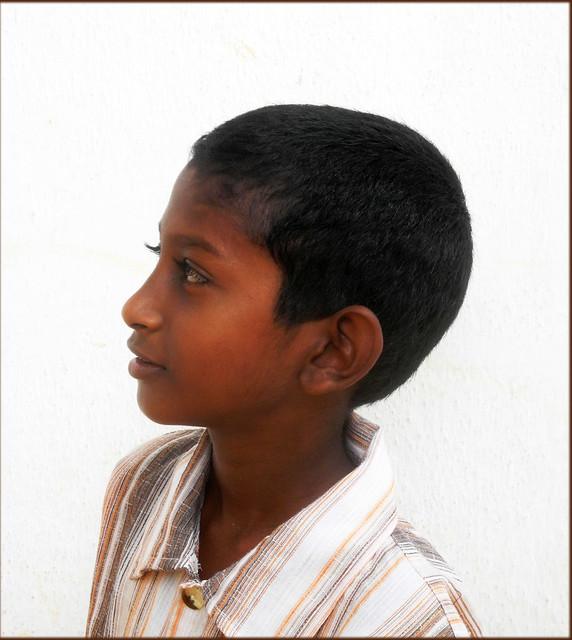 Sinhalese boy; profile