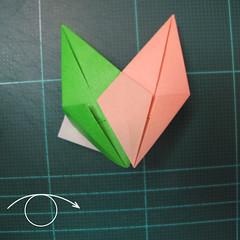 การพับกระดาษแบบโมดูล่าเป็นดาวสปาราซิส (Modular Origami Sparaxis Star) 021