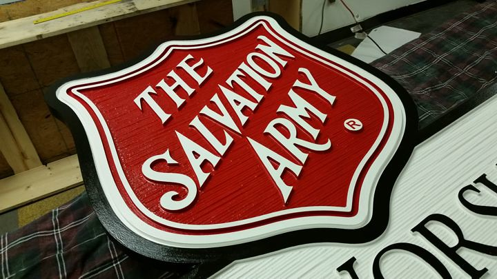 salvation army icon | Custom created wood grain texture and