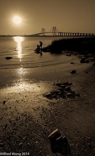 bridge sunset baytown fredhartman