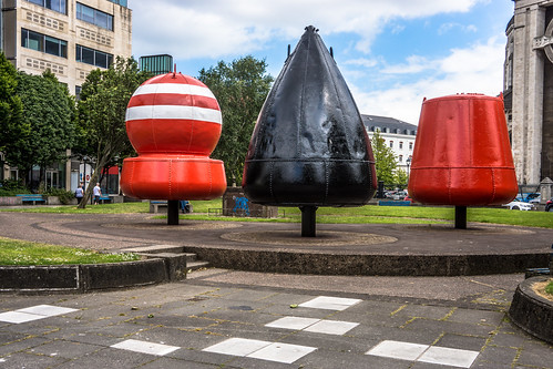THREE BUOYS IN CATHEDRAL PAEK IN BELFAST [BUOY'S PARK] | by infomatique