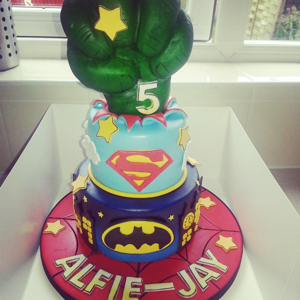 Superhero Cake For A Boys 5th Birthday