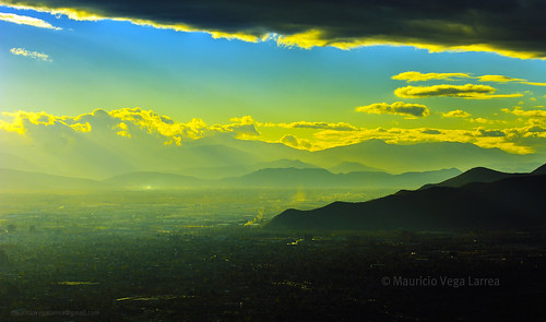 amarillo ocaso nikon santiago norte chile 70200 nubes yellow cerro san cristobal