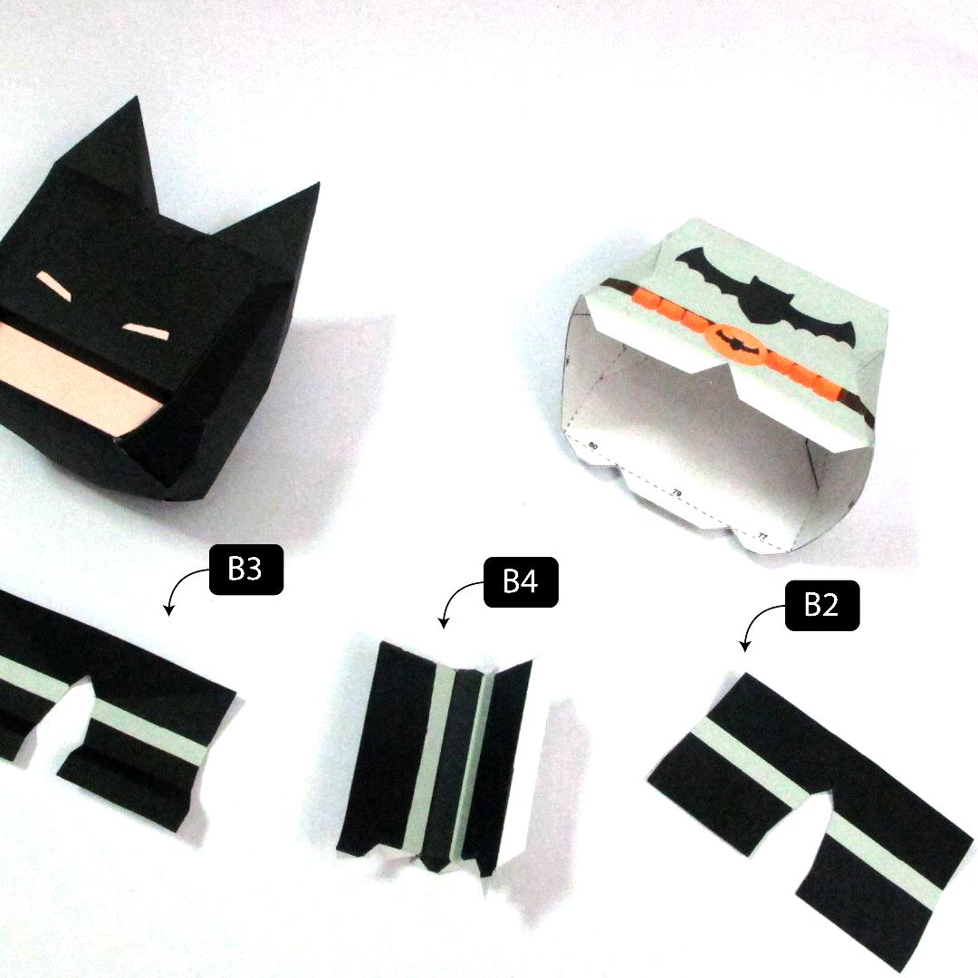 วิธีทำโมเดลกระดาษแบทแมน (Batman Papercraft Model) 012