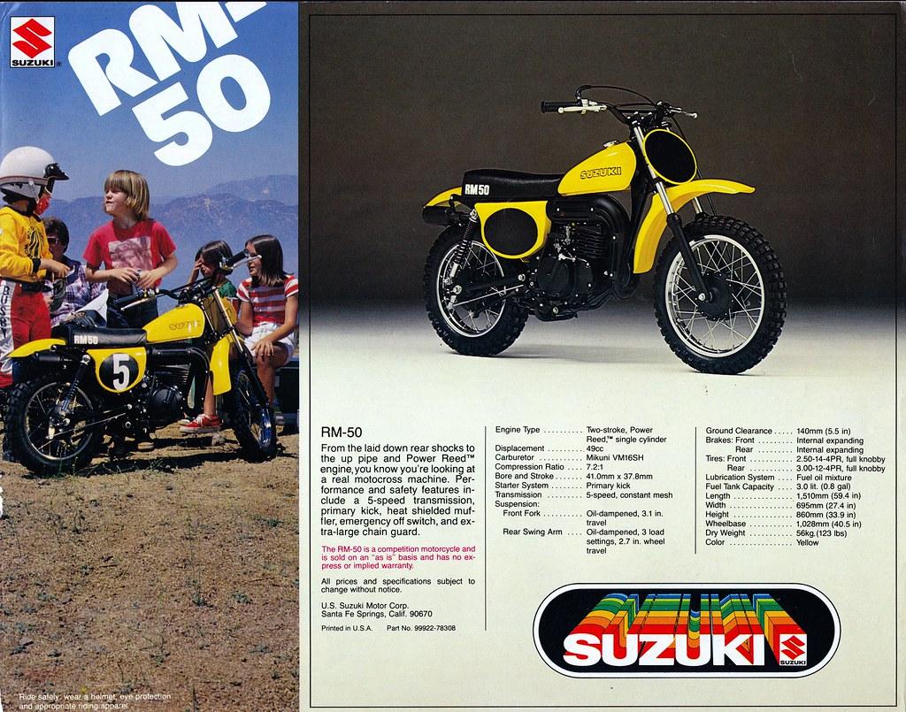 1978 Suzuki RM50 Brochure | Tony Blazier | Flickr